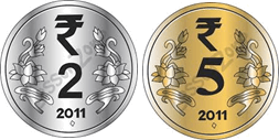 This image shown the set of coins – Choice A
