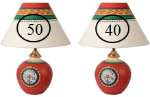 This figure shows two pair of lamps with price – Choice A
