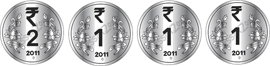This image show four different coins – Choice D