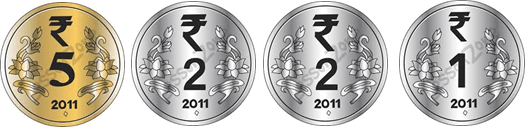 This image show four different coins – Choice A