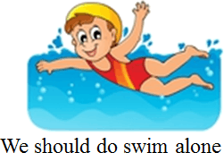 Image shows the safety rule related a swimming pool – Choice A