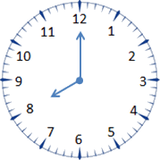 This clock of image represents less time – Choice C
