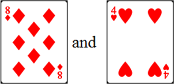 In given cards have two pairs – Choice C