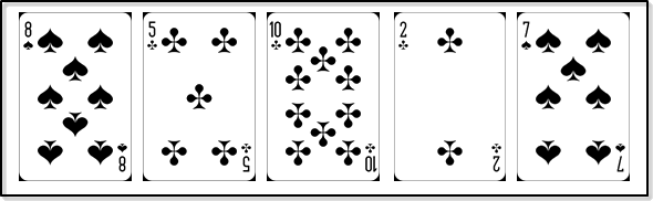 This diagram show the cards