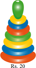 This image shown the different toy with amount – Choice D