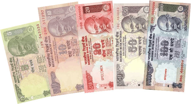 This image of notes shown different rupee