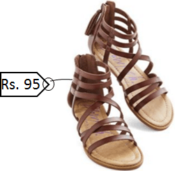 This image show the sandal wants to buy Lata