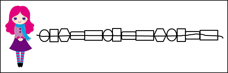 This figure shows the broken chain
