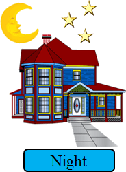 This image show the sun with the house – Choice D