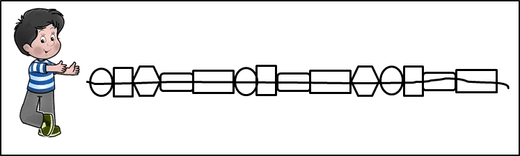 This figure shows the broken bead chain