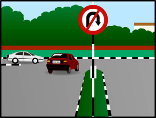 This image shows the vehicles cross the road