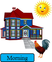 This image show the sun with the house – Choice A
