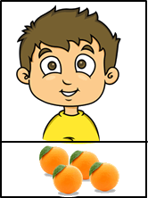 This boy has some oranges