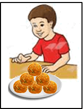 In this image shown the some laddus in plate