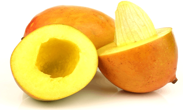 This image shows that the fruit of mango