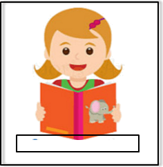 In this diagram shows girl read a book