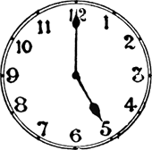 This image of clock show exact time – Choice D