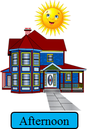 This image show the sun with the house – Choice B