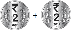 This image shown the addition between note and coin – Choice B