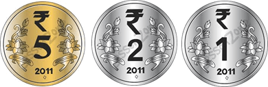 This image shown the set of coins Rinky take– Choice B