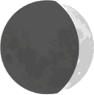 This image shows the shape of the moon – Choice B