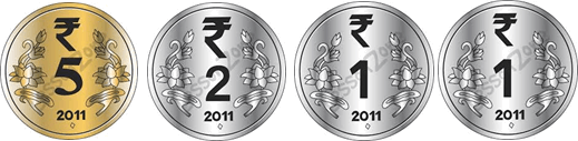 This image shown the set of coins Rinky take– Choice A