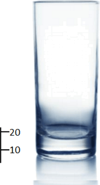 This image show the capacity of water glass – Choice C