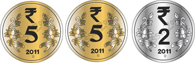 This image shown the set of coins Rinky take– Choice D