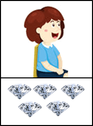 This boy has diamonds in bag