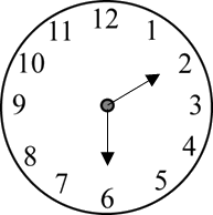 Image of the clock shows the time – Choice C