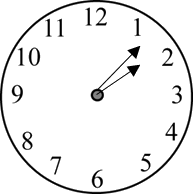 Image of the clock shows the time – Choice B