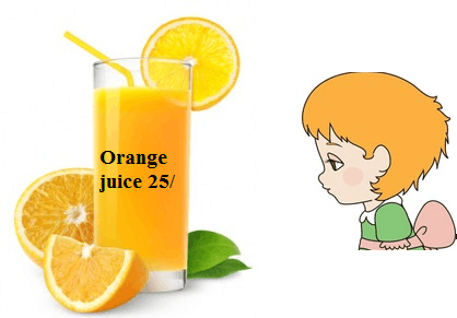 Image of Meera has a pitcher of Orange juice