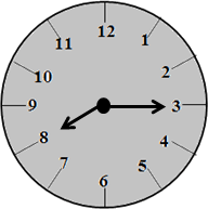 The clock with 8:15 time – choice A