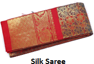 The image of silk saree