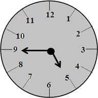 The clock with 4:45 time – choice B