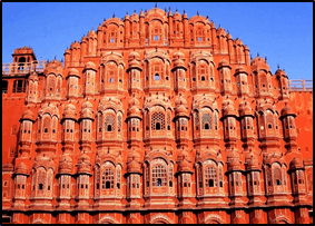 The image of the Hawa Mahal