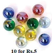 Image of marbles 10 for Rs. 5