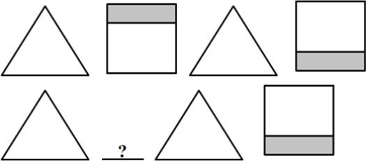 This pattern made up of the triangle and square in shaded part