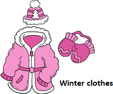 The image of the winter clothes