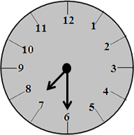 The clock with 8:30 time – choice B