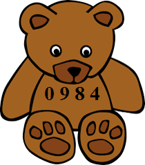 Teddy bears with number 0984