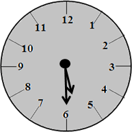 The clock with 5:30 time – choice C