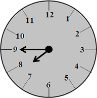 The clock with 8:45 time – choice C