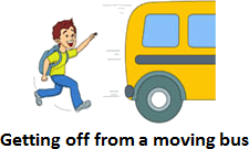 Image defining how to travel in a bus – Choice C