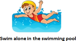 Safety rules while swimming – Choice A