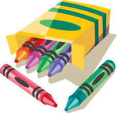Image of 6 crayons in the box