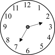 Image of the clock shows the time – Choice D
