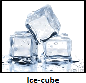 shows The image of ice-cube