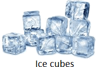 The image of ice cubes