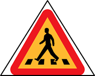The figure of road safety signs – choice B